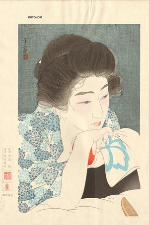 鳥居言人: 12 Aspects of Women, Morning Hair - Asian Collection Internet Auction
