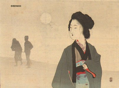 Tomioka Eisen: Beauty in moon light - Asian Collection Internet Auction
