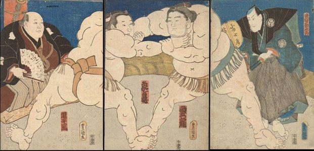 歌川国貞: Championship match - Asian Collection Internet Auction