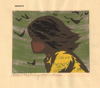 Nakayama, Tadashi: Girl in Wind - Asian Collection Internet Auction