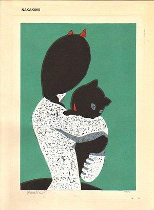 Nakao, Yoshitaka: Black cat - Asian Collection Internet Auction