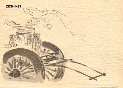 柴田是眞: Flower cart - Asian Collection Internet Auction