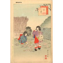 Shuntei: Gathering cherry blossoms - Asian Collection Internet Auction