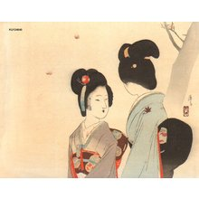 Tomioka Eisen: BIJIN under maples - Asian Collection Internet Auction