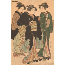 北尾重政: Three courtesans - Asian Collection Internet Auction