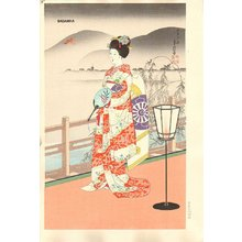 Hasegawa Sadanobu III: MAIKO (Summer) - Asian Collection Internet Auction