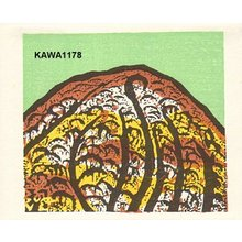 Kawakami Sumio: Card size print entitled Autumn - Asian Collection Internet Auction