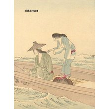 Tomioka Eisen: BIJIN (beauties) fishing - Asian Collection Internet Auction