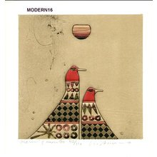 Amano, Kunihiro: Morning Moon 90 - Asian Collection Internet Auction
