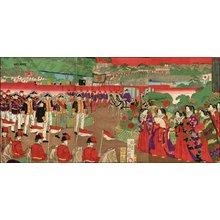 歌川国貞三代: Emperor and Empress and Imperial Guard - Asian Collection Internet Auction