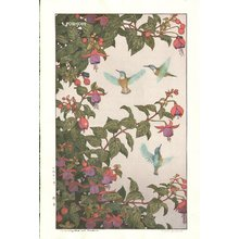Yoshida Toshi: Hummingbird and Fushsia - Asian Collection Internet Auction