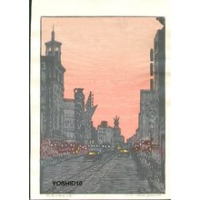 Yoshida Toshi: Morning New Year's Day in Ginza - Asian Collection Internet Auction