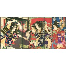 Utagawa Kunisada III: Actors Ichikawa, Bando, Onoe, and Nakamura - Asian Collection Internet Auction