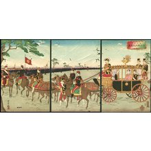 井上安治: Triptych - Asian Collection Internet Auction