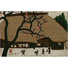 Saito, Kiyoshi: KAKI (persimmon) in fall - Asian Collection Internet Auction