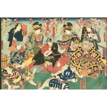 Utagawa Kunisada: Yokoban (horizontal print) - Asian Collection Internet Auction