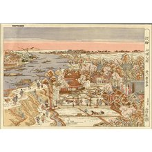 歌川豊春: Bird's-eye view of Mimeguri - Asian Collection Internet Auction