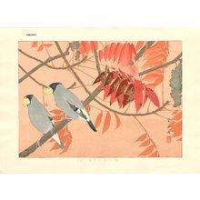 Tsuchiya, Rakuzan: Pair of Japanese Grosbeaks - Asian Collection Internet Auction