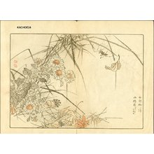 幸野楳嶺: YAMAJI GIKU (mountain path) and spider - Asian Collection Internet Auction