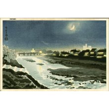 Kotozuka Eiichi: Silent Night at Kamo River - Asian Collection Internet Auction