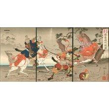 Watanabe Nobukazu: Shigemori and Yahihira in Battle - Asian Collection Internet Auction
