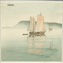 Yoshida Hiroshi: ASA NO TAKAMATSU (Morning at Takamatsu) - Asian Collection Internet Auction