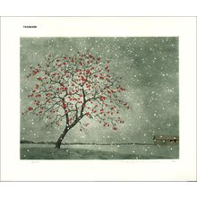 Tanaka, Ryohei: Persimmon in Snow - Asian Collection Internet Auction
