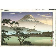 風光礼讃: Fuji from Lake Sai - Asian Collection Internet Auction