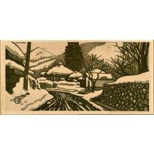 Okuyama, Gihachiro: Snow landscape - Asian Collection Internet Auction