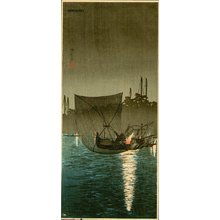 Takahashi Hiroaki: In the Evening, Fishing at Tsududajima - Asian Collection Internet Auction