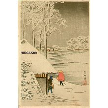 Takahashi Hiroaki: Night Snow at Ikegami - Asian Collection Internet Auction