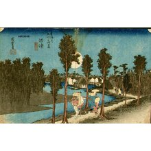 Utagawa Hiroshige: Twilight at Numazu - Asian Collection Internet Auction