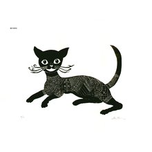 Oi, Motoi: Calligraphy Cat - Asian Collection Internet Auction