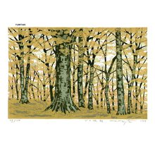 FUJITA, Fumio: BUNAHAYASHI-AKI (Beech Forest Autumn) - Asian Collection Internet Auction