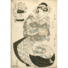 菊川英山: Five Women of the Gay Quarters - Asian Collection Internet Auction