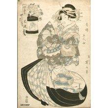 菊川英山: Five Women of the Gay Quarters - Asian Collection Internet Auction