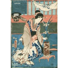 Utagawa Kunisada: Ikebana (flower arranging) - Asian Collection Internet Auction