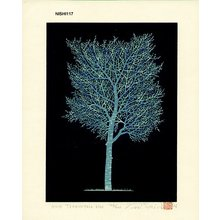 NISHIDA, Tadashige: One Tree (3) Pale Blue - Asian Collection Internet Auction