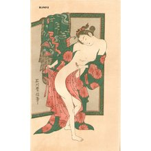 Toyonobu: BIJIN-E (beauty print), courtesan dressing - Asian Collection Internet Auction