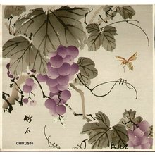 Nagamachi Chikuseki: Grape and wasp - Asian Collection Internet Auction