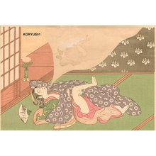 Isoda Koryusai: Bijin dreaming of making love - Asian Collection Internet Auction