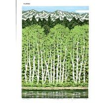 Fujita, Fumio: BUNARIN AKI (forest of beech in autumn) - Asian Collection Internet Auction