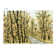 Fujita, Fumio: MOMIJINORINDO B (path to the maple tree) - Asian Collection Internet Auction