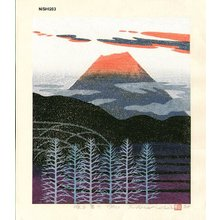 NISHIDA, Tadashige: AKERU FUJI (Mt. Fuji at Daybreak) - Asian Collection Internet Auction