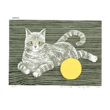 Fujita, Fumio: Cat and Ball - Asian Collection Internet Auction