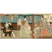 歌川国貞: YAKUSHA-E (actor print), triptych - Asian Collection Internet Auction