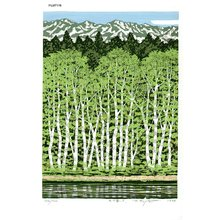 Fujita, Fumio: YAMANO HARU (Mountain in Spring) - Asian Collection Internet Auction