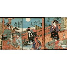 Utagawa Sadahide: Triptych - Asian Collection Internet Auction