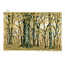 Fujita, Fumio: BUNARIN AKI (beech woods in fall) - Asian Collection Internet Auction