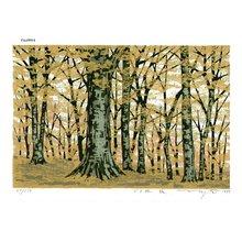 Fujita, Fumio: BUNARIN AKI (beech woods in fall) - Asian Collection Internet Auction
